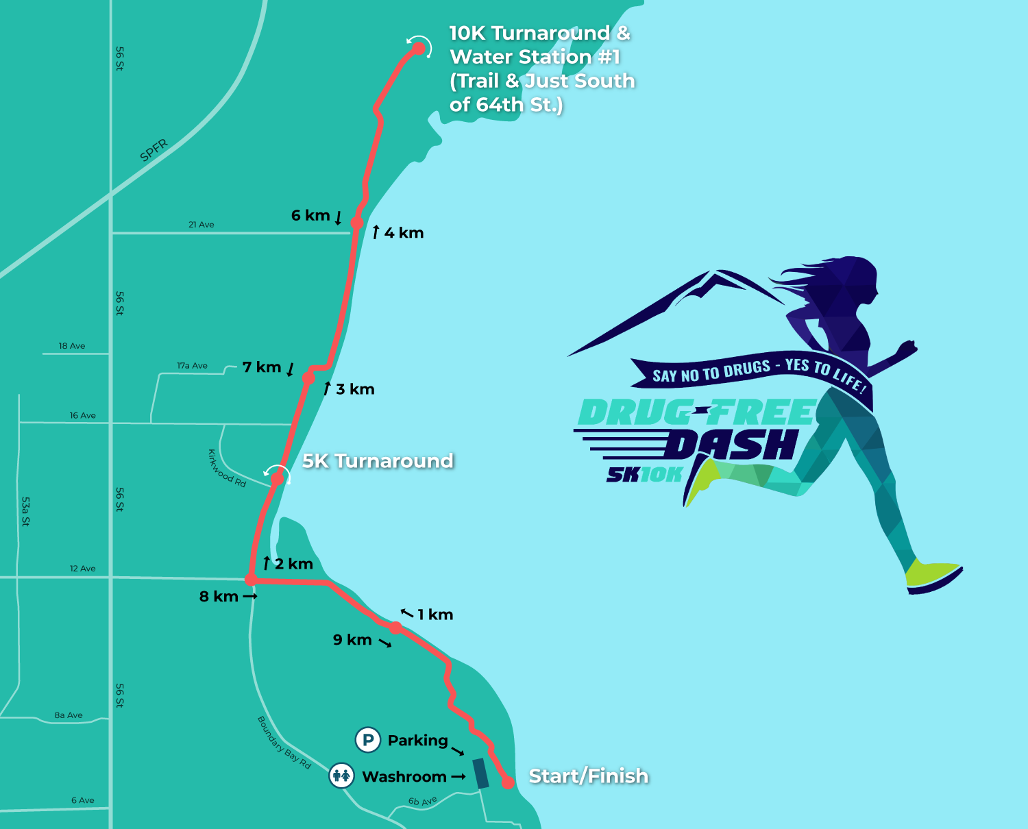 Drug Free Dash course map